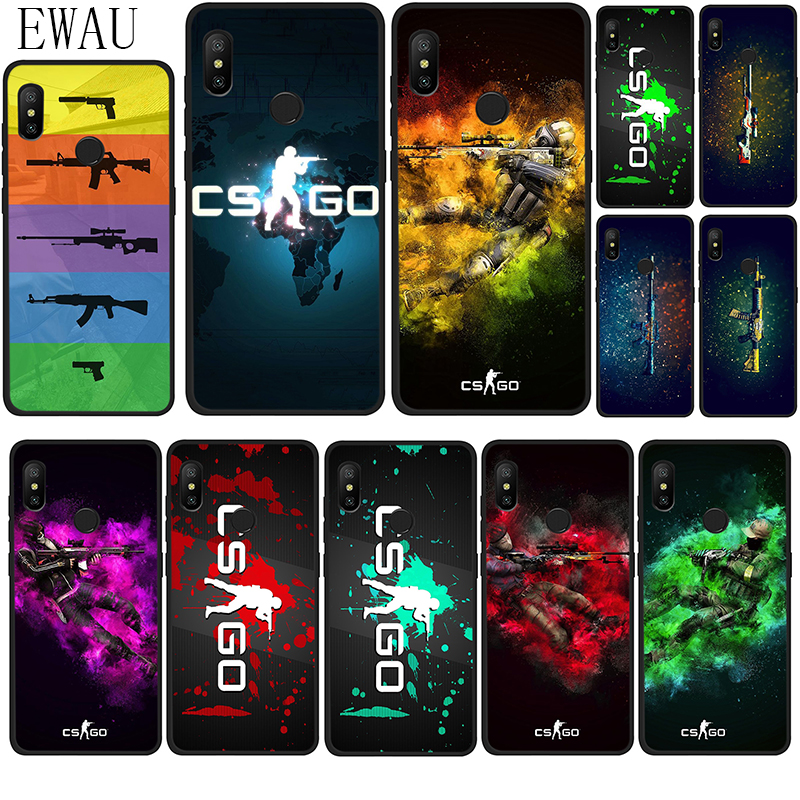 EWAU CS GO Game Silicone phone case for Xiaomi Redmi Note 4 4X 5 6 7 8 Pro 5A Prime 8T image