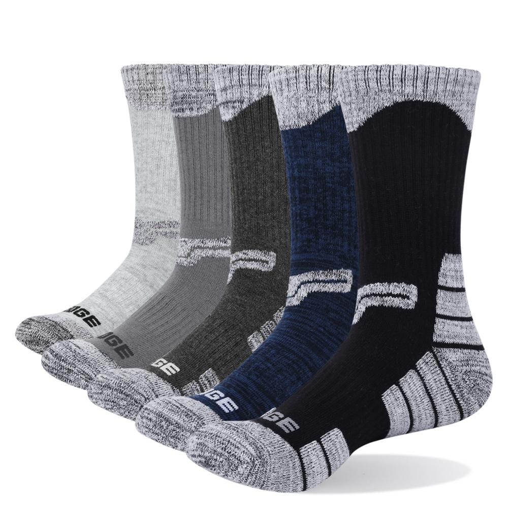 YUEDGE Brand 3 Pairs 5 Pairs Men's Cotton Business Casual Breathable Warm Winter Crew Dress Socks Meias US Size (6.5-12.5)
