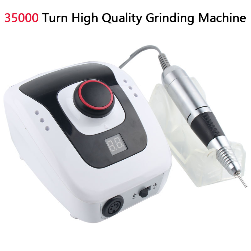 Electric Nail Drill Machine 35000 RPM Nail Art Equipment Electric Nail File Drill Bits Tools Manicure Machine Accessory TSLM1