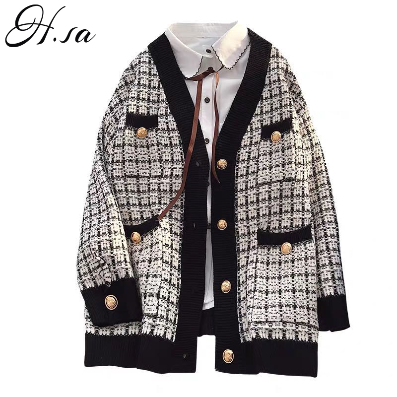 Top SaleKnitted Cardigans Jacket Jumpers Sueter Korean-Clothing Long-Coat Oversized Women Sweater