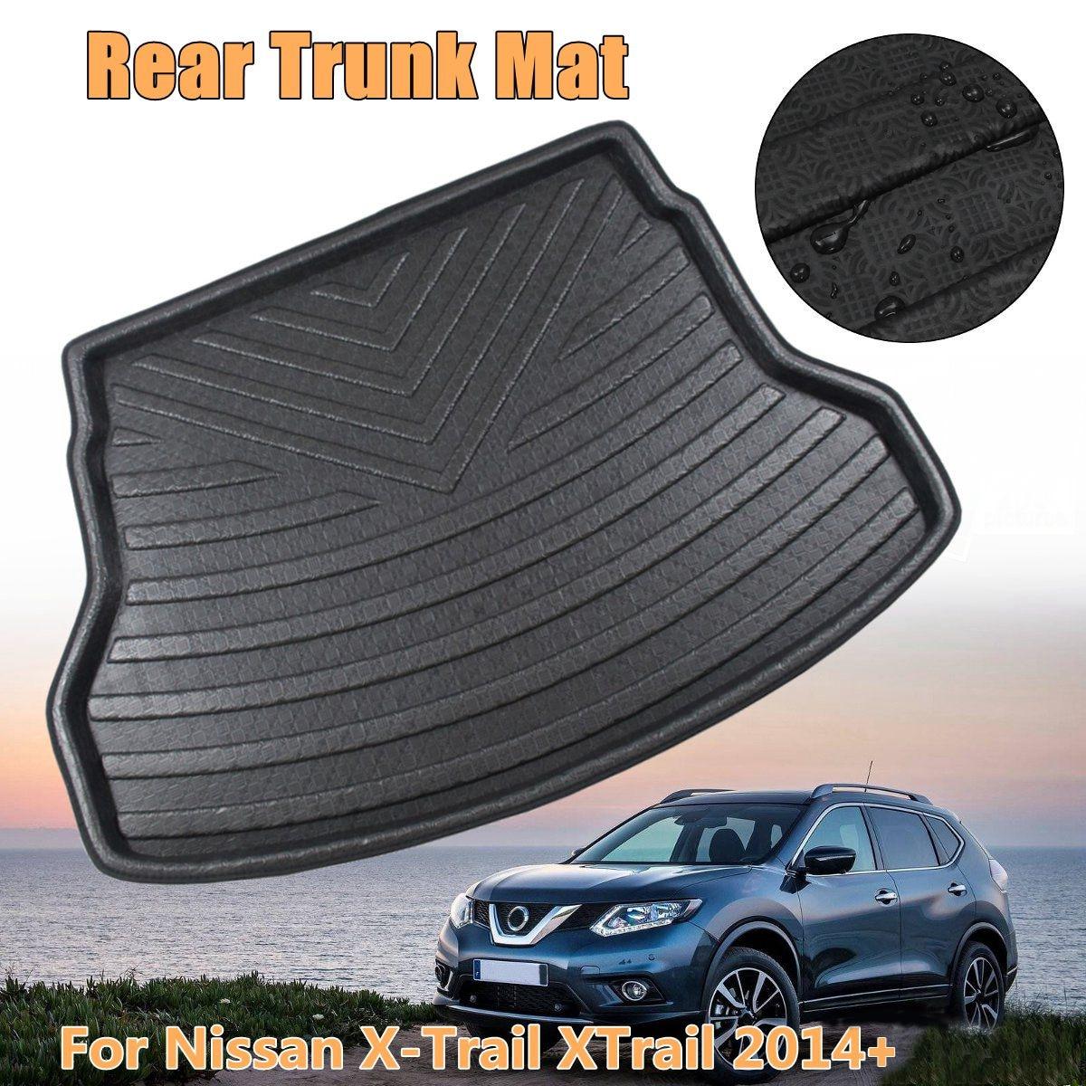 Araba Boot kargo astar Nissan x trail XTrail 2014 2015 2016 2017 2018 2019 + arka bagaj zemin mat tepsi halı çamur koruyucu 1 adet title=