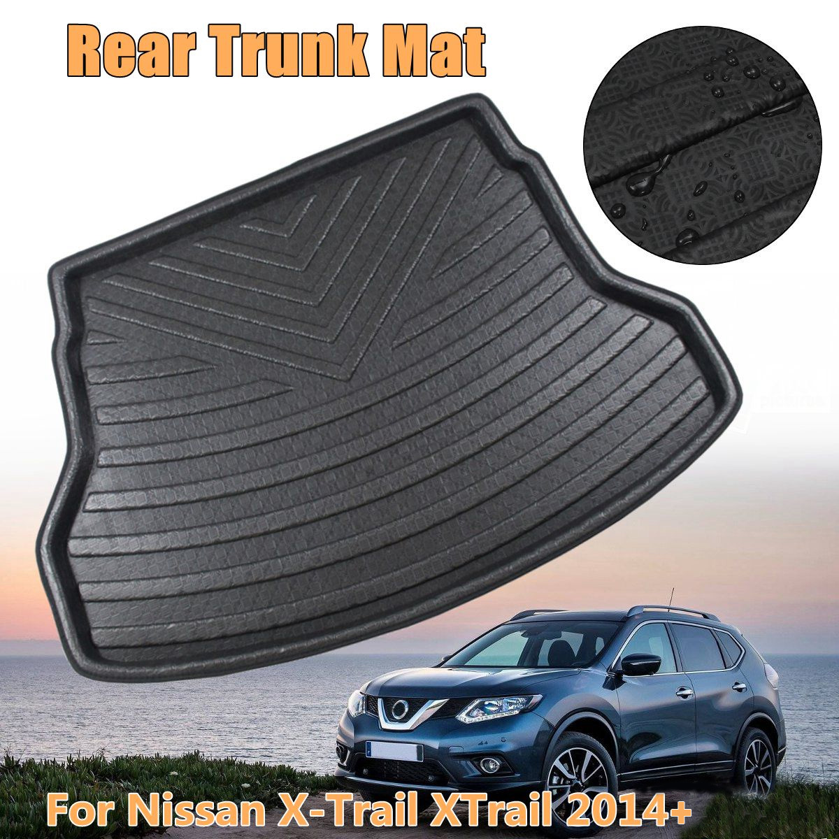 Car Boot Cargo Liner For Nissan X-Trail XTrail 2014 2015 2016 2017 2018 2019+ Rear Trunk Floor Mat Tray Carpet Mud Protector 1Pc