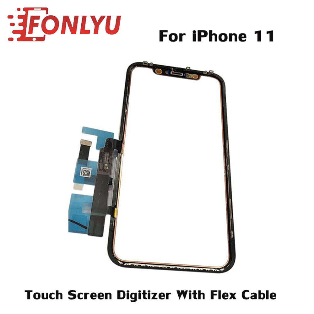 Touch Screen Digitizer Panel With Flex Cable For IPhone 11 Front Glass Touchscreen Sensor Repair Parts Replacement