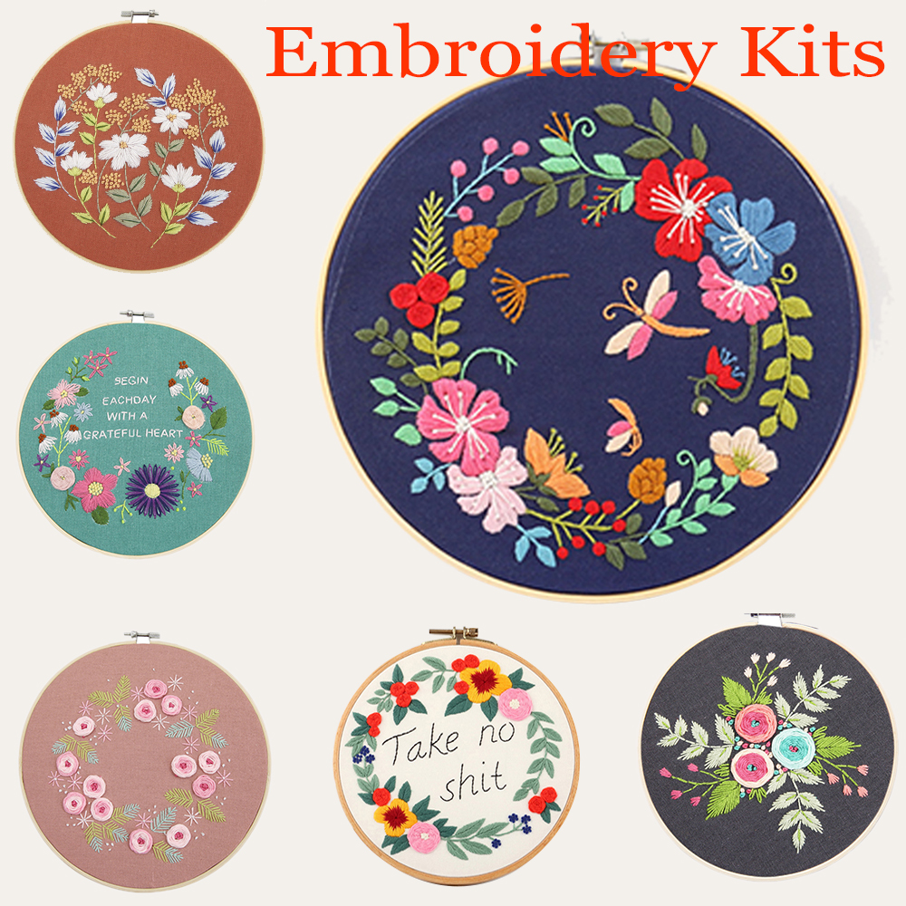 Circle Embroidery Kits, Embroidery Set, Needlework Embroidery, Cross Stitch Kits, Embroidery for Beginner, DIY Art Sewing Craft