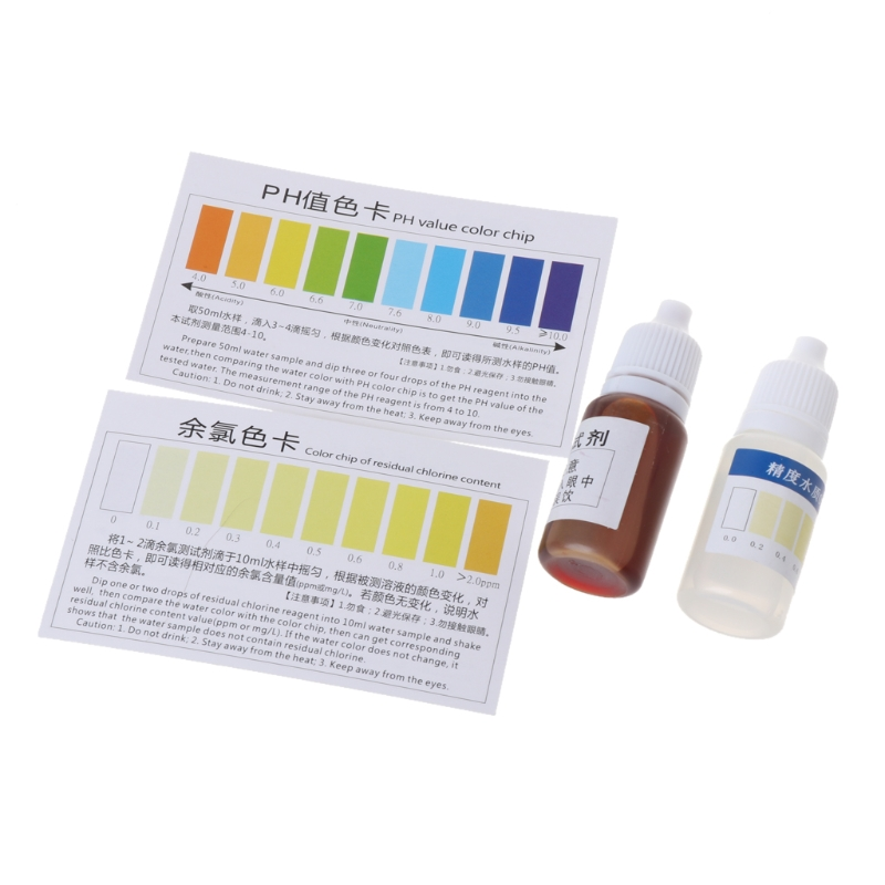 Practical pH A2O Water pH OTO Dual Test Kit with Test Card for 100-125 tests