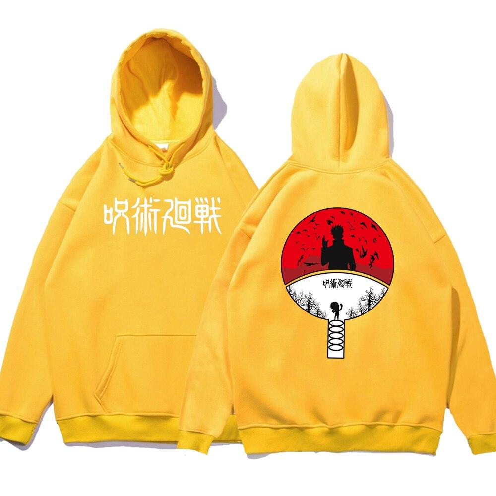 Jujutsu Kaisen Anime Double-Sided Printing Hoodies Men Loose Fleece Hoodie Autumn Fleece Sweatshirt Casual O-Neck Clothing Man