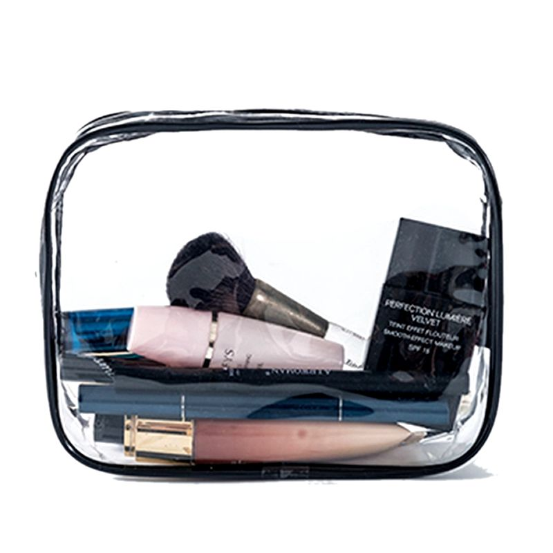 Transparent PVC Cosmetic Bag Women Men Travel Makeup Purse Bag Zipper Make Up Organizer Storage Pouch Toiletry Beauty Wash  Case