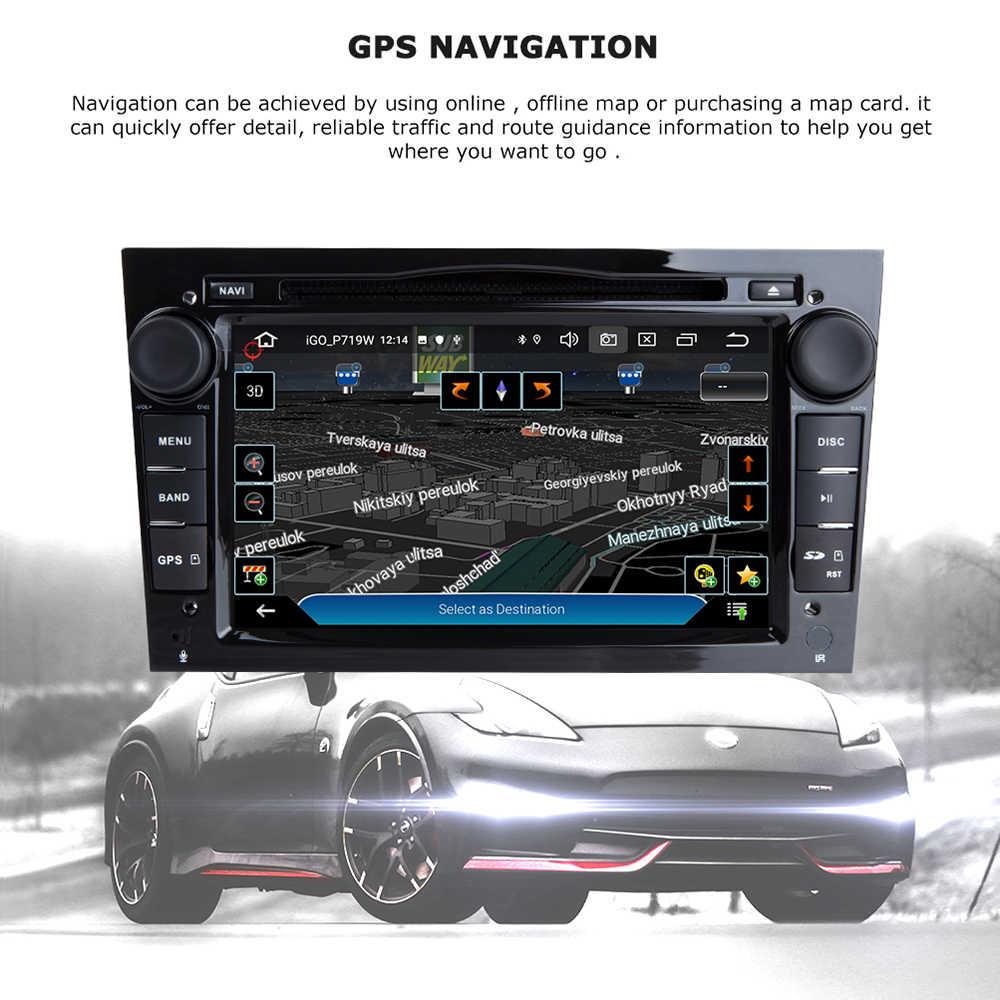 2 Din Android 10 Mobil DVD Player untuk Opel Vectra C Zafira B Corsa D C Astra H G J meriva Vivaro Multimedia GPS Navigasi Radio