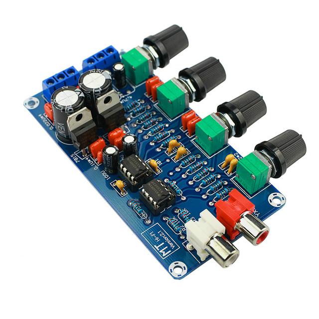 Updated Amplifier NE5532 Preamp Preamplifier Volume tone control Finished Board Treble Midrange Bass EQ DIY Dual AC 12V – 18V