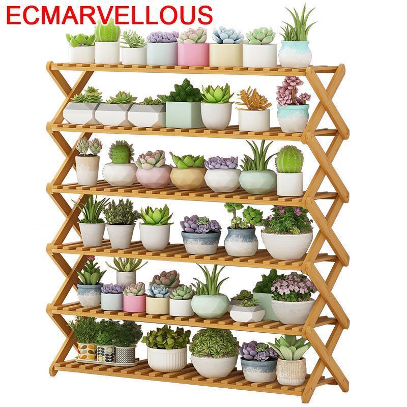Scaffale Porta Piante Pot Estanteria Repisa Para Plantas Pour Etagere Plante Balcony Flower Shelf Dekoration Rack Plant Stand