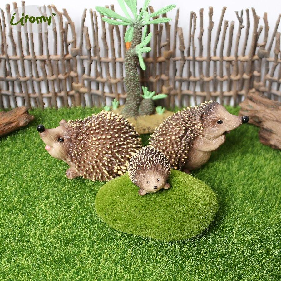 Ouriço realista estatuetas animais figura de ação ouriços modelo cognitivo brinquedos educativos para crianças