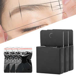 Eyebrow Mapping String Positioning Thread Marker Pre-Inked Tattoo Measuring Tool Marking Stencils Eyebrow Tattoo Aid Tool Supply