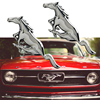 3D Metal Mustang Running Horse Front Hood Grille Side Door Wing Fender Emblem Sticker For Ford Shelby GT Car Styling Accessories