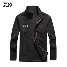 Daiwa, одежда для рыбалки, однотонная, Осень-зима, стоячий воротник, на молнии, спортивный костюм, повседневное, для улицы, спортивное пальто, флисовая, для рыбалки, куртка для мужчин