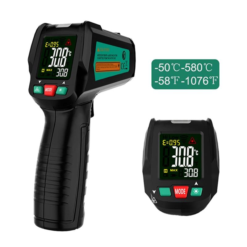 Бесконтактный термометр цифровой инфракрасный термометр  бесконтактный температурный пистолет лазерный ручной ИК темп пистолет  цветной ЖК дисплейПриборы для измерения температуры   -