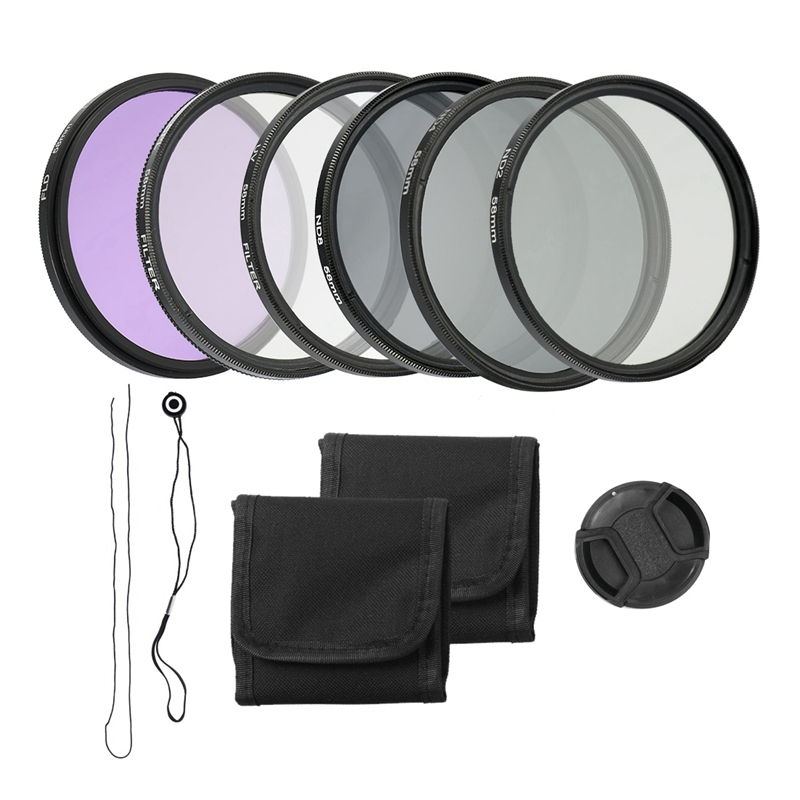 58mm Camera UV CPL FLD Lens Filters Kit and Altura Photo ND Neutral Density Filter Set Photography Accessories