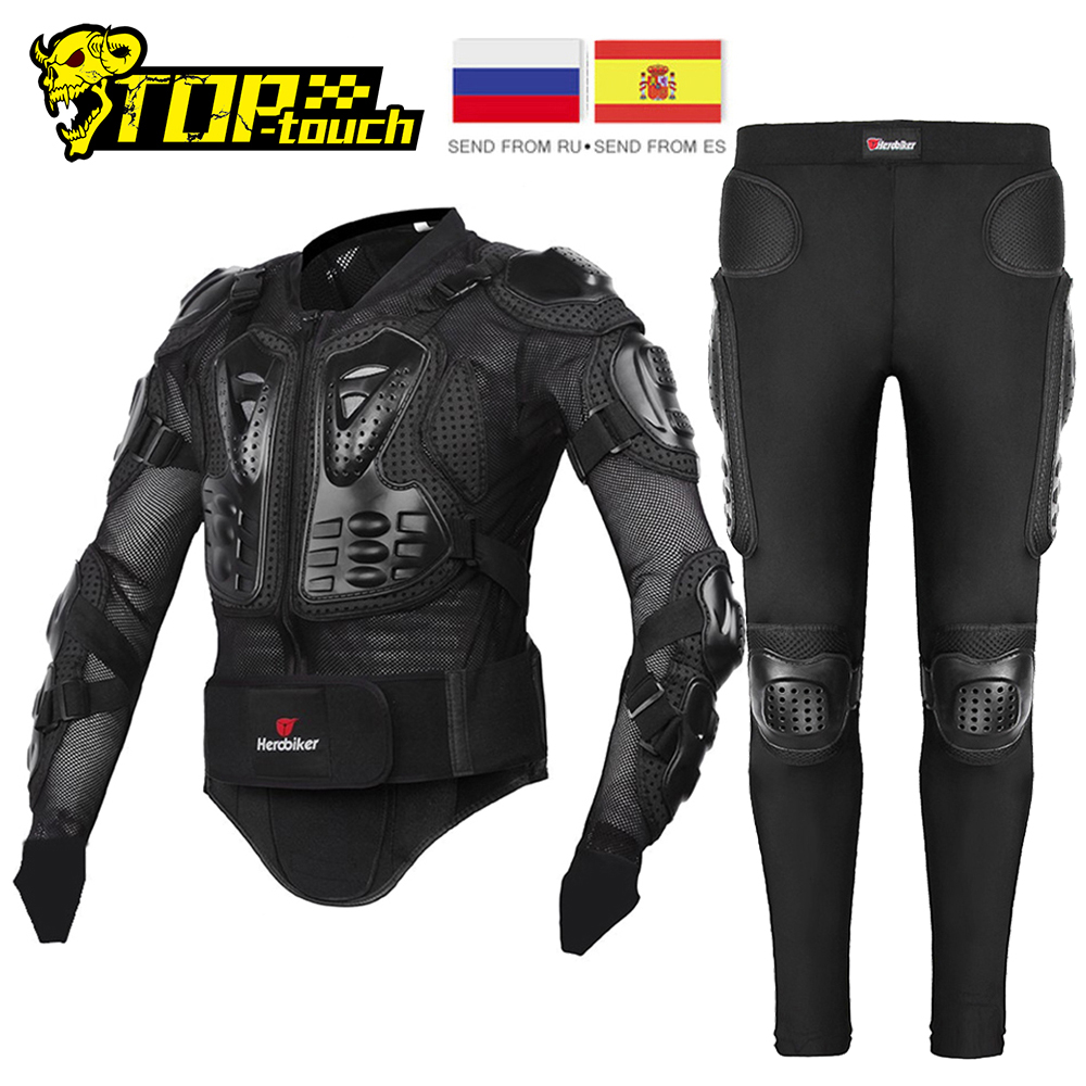 HEROBIKER Motorcycle Jacket Men Full Body Motorcycle Armor Motocross Racing Moto Jacket Riding Motorbike Protection Size S-5XL