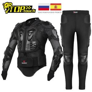 Image 1 - HEROBIKER Motorcycle Jacket Men Full Body Motorcycle Armor Motocross Racing Moto Jacket Riding Motorbike Protection Size S 5XL #