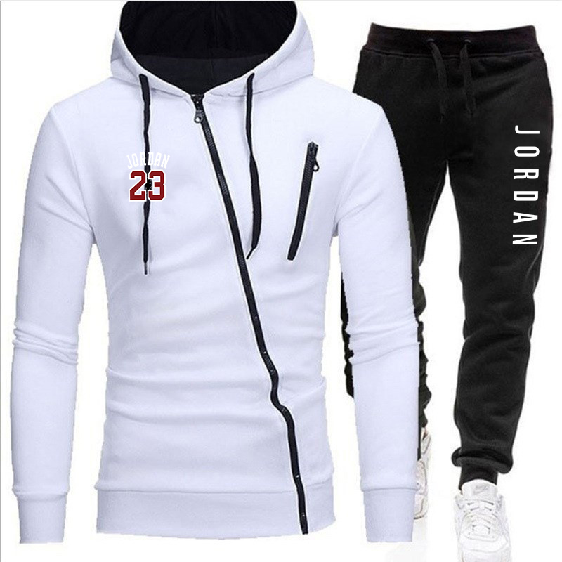Men's Fashion Tracksuit Casual Sportsuit Men Hoodies/Sweatshirts Sportswear Zipper Coat+Pant Tracksuit Men Set Brand Clothing