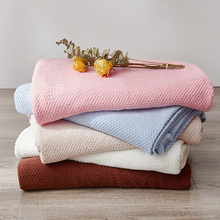 Solid Color Soft Blanket Knitting Single Layer Comfort Sofa Throw Blanket Chair Bed Cover For Child Adult Travel Sleep Blanket цена 2017
