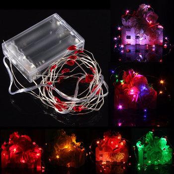 2M 20 LED zasilany z baterii uniwersalne serce String bajkowe oświetlenie nadaje się na boże narodzenie imprezy wesele dekoracje tanie i dobre opinie SecurityIng EPC_DEL_105 Other