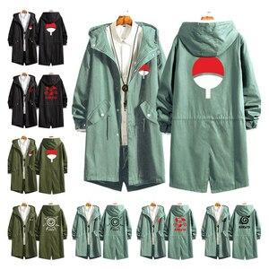 Новый аниме Наруто Учиха Итачи маскарадные костюмы Konoha Sharingan Хлопок Тренч кардиган толстовки Толстовка с капюшоном куртки пальто