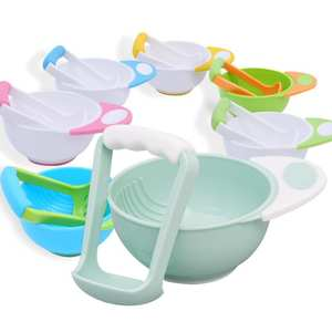 Tableware Processor Dish-Feeder Grinding-Set Feeding-Bowl Food-Mills-Tools Foods Baby