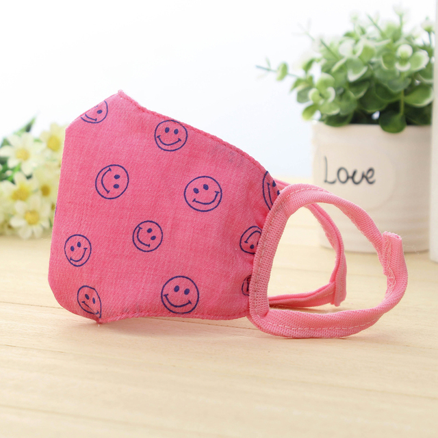 Korean version of simple smiling children's masks baby breathable anti-fouling warm cotton cartoon expression men 1