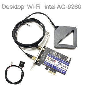 Image 2 - デュアルバンドデスクトップ PCI E 1X ワイヤレス AC 9260 インテル 9260NGW 802.11ac 5 2.4ghz 1.73 5gbps WiFi Bluetooth 5.0 ゲーム windows 用の 10