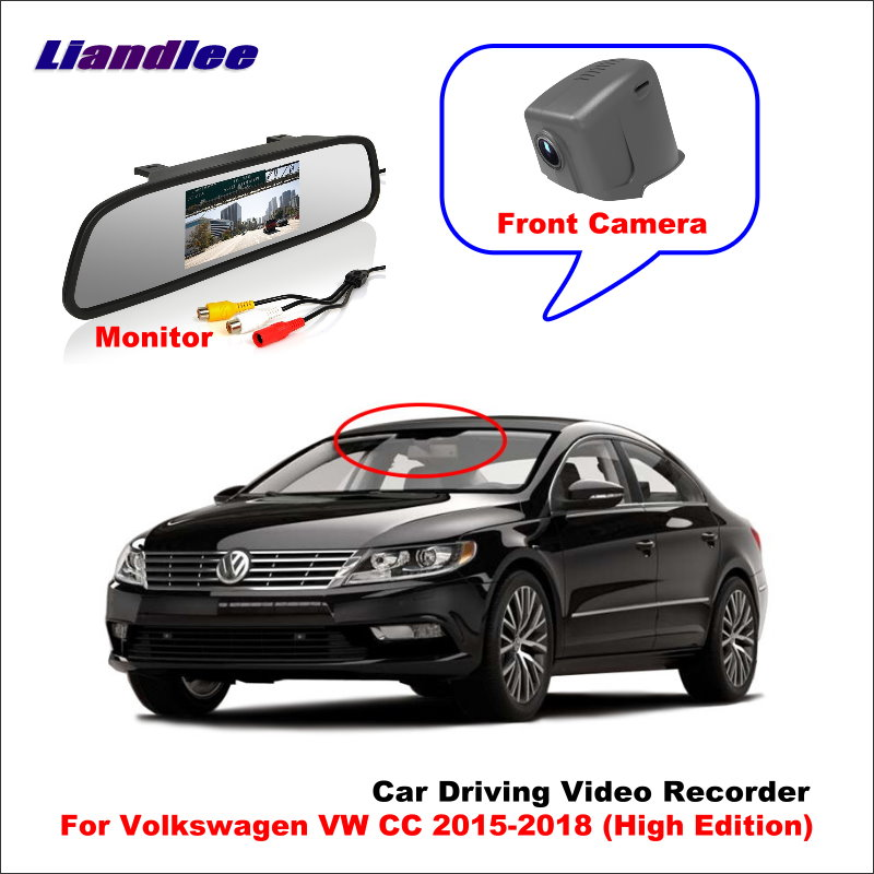Liandlee Car DVR Wifi Video Recorder Dash Cam Camera For Volkswagen VW CC 2015-2018 (High Edition) Night Vision APP image