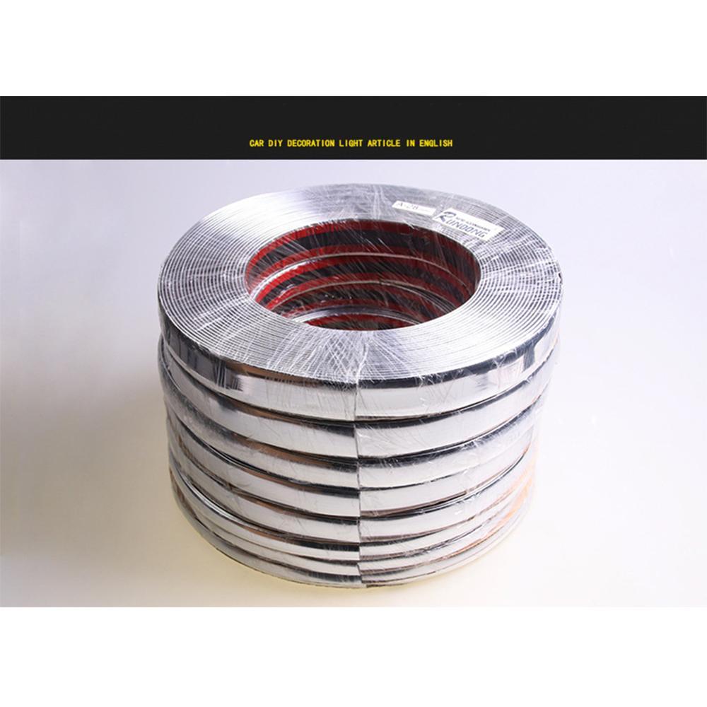 10mm X 15m Silver Chrome Self Adhesive Car Door Edge Styling Moulding Trim Strip