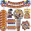 Аниме «Наруто» или тематического дня рождения вечерние украшения набор воздушных шаров, флаги, баннеры торт карточные украшения Дети День ...