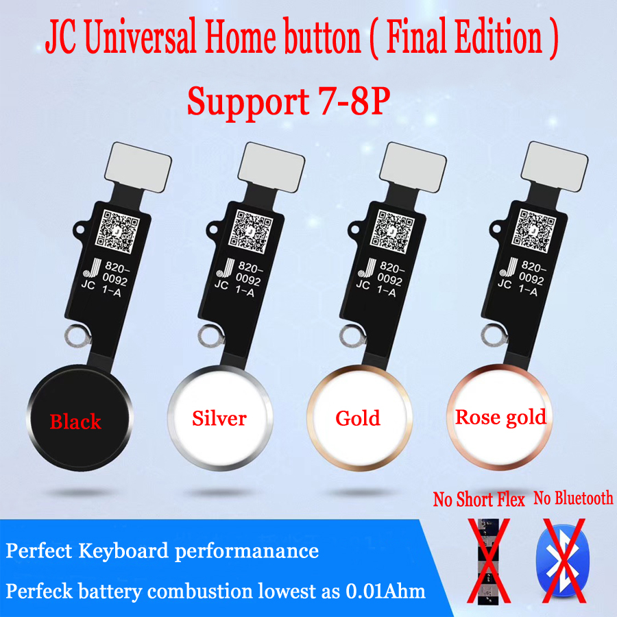 HX JC YF Universal Home Button For Iphone 7/7plus /8/8 Plus Return Button Key Only Back Function And Screen Shot No Touch ID