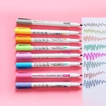 8 Pcs Doppel Liner Zeichnung Stifte Linie Stift Farbe Marker Stift Student Marker Schreibwaren Student marker schreibwaren set Set