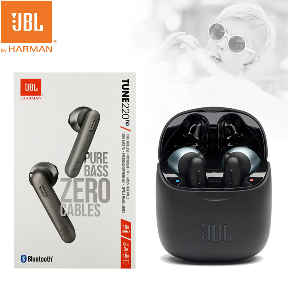 Jbl T220tws Bluetooth 5 0 Wireless Headphone Stereo True Wireless Bluetooth Earbuds With Mic Charging Case Support Android Ios Bluetooth Earphones Headphones Aliexpress