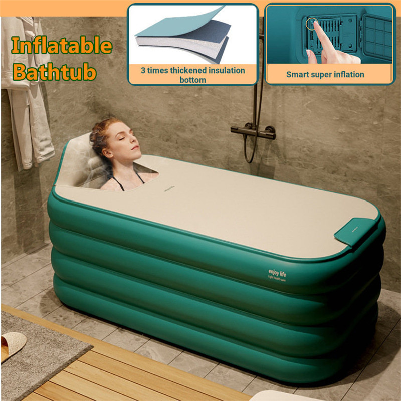 Smart Automatic Inflatable Bathtub Adult Folding Bathtub for Small Apartment Home Baby Tub Portable Outdoor SPA Bath Tub 1.3/1.4