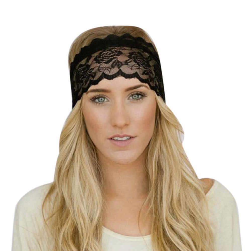 Panie koronki sportowe joga opaska Gym Stretch z pałąkiem na głowę opaska do włosów dziewczyna elastyczne opaski do włosów do biegania na świeżym powietrzu Fitness ćwiczenia nowy