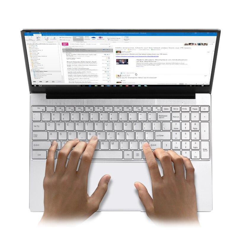 15,6 ноутбук компьютер с intel celeron J3455 четырехъядерный нетбук 8G RAM 128G/256G/512G Поддержка Micro HDMI USB bluetooth win10