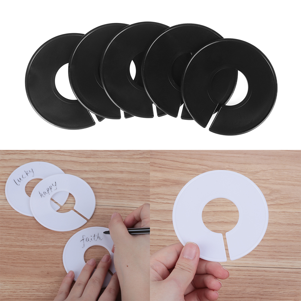 20//40pcs DIY Clothing Size Dividers Wardrobe Round Plastic Clothes Hanger Marks