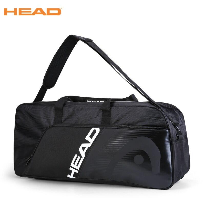 Black Head Tennis Bag Men Women Large Capacity 6 Rackets Sports Bag De Tenis Saco Badminton Tennis Racket Backpack HEAD Original