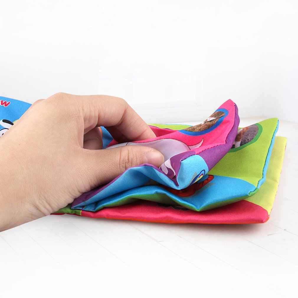 Anti-rozdarcie tkaniny książeczka dla dzieci rozwój inteligencji zabawki edukacyjne ściereczka uczenia się poznajemy książkę dla dzieci w wieku 0-24 miesięcy dla dzieci w języku angielskim