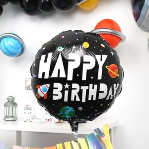 Image 5 - 37inch Outer Space Party Astronaut balloon Rocket Foil Balloons Galaxy Theme Party Boy Kids Birthday Party Decor Helium Globos