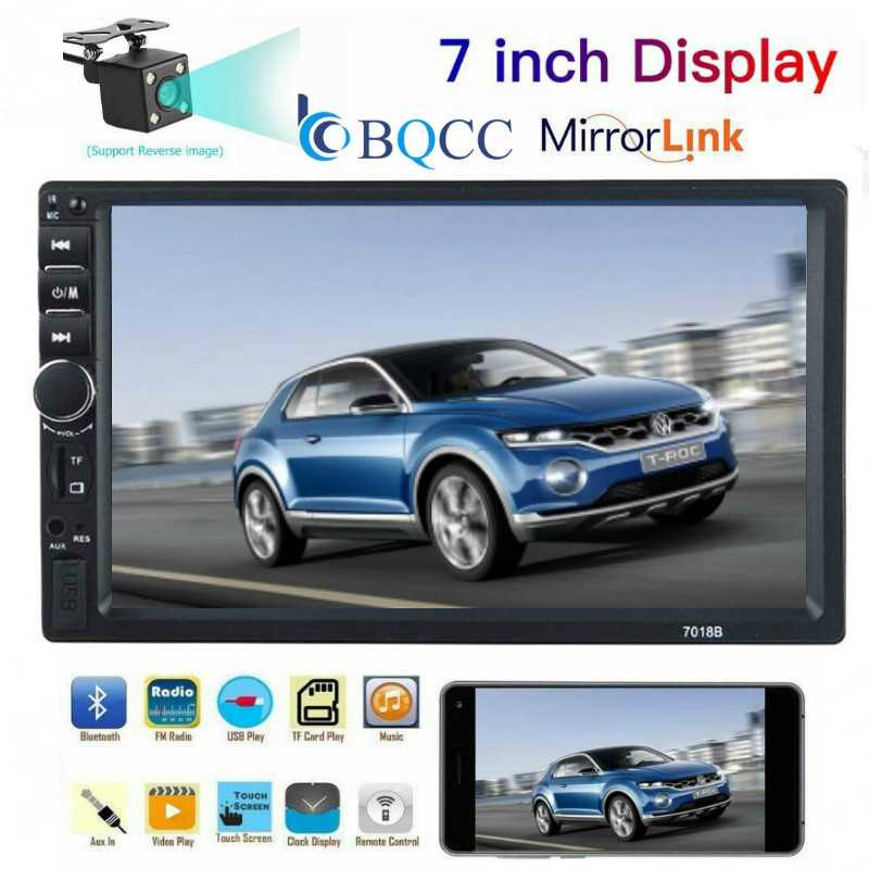 Radio Car Player Mirror Link Autoradio 2 Din General Car Models 7'' Inch LCD Touch Screen Bluetooth Auto Stereo Rear View Camera image