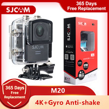 Orijinal SJCAM M20 spor eylem kamera 4K Wifi SJCam sualtı Gyro Anti-shake 16MP ham formatı su geçirmez DV