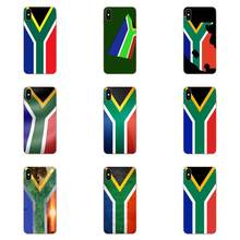 For Huawei Honor Nova Note 5 5I 8A 8X 10 Pro 9X For Moto G G2 G3 G4 G5 G6 G7 Plus Soft TPU Phone Capa South Africa National Flag(China)