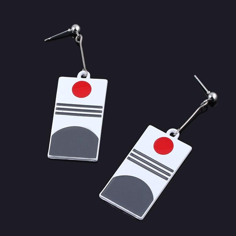 2019 Hot anime earrings Demon Slayer Kimetsu no Yaiba Anime Earrings Kamado Tanjirou Japanese Cosplay Props Ear Stud Eardrops in Drop Earrings from Jewelry Accessories