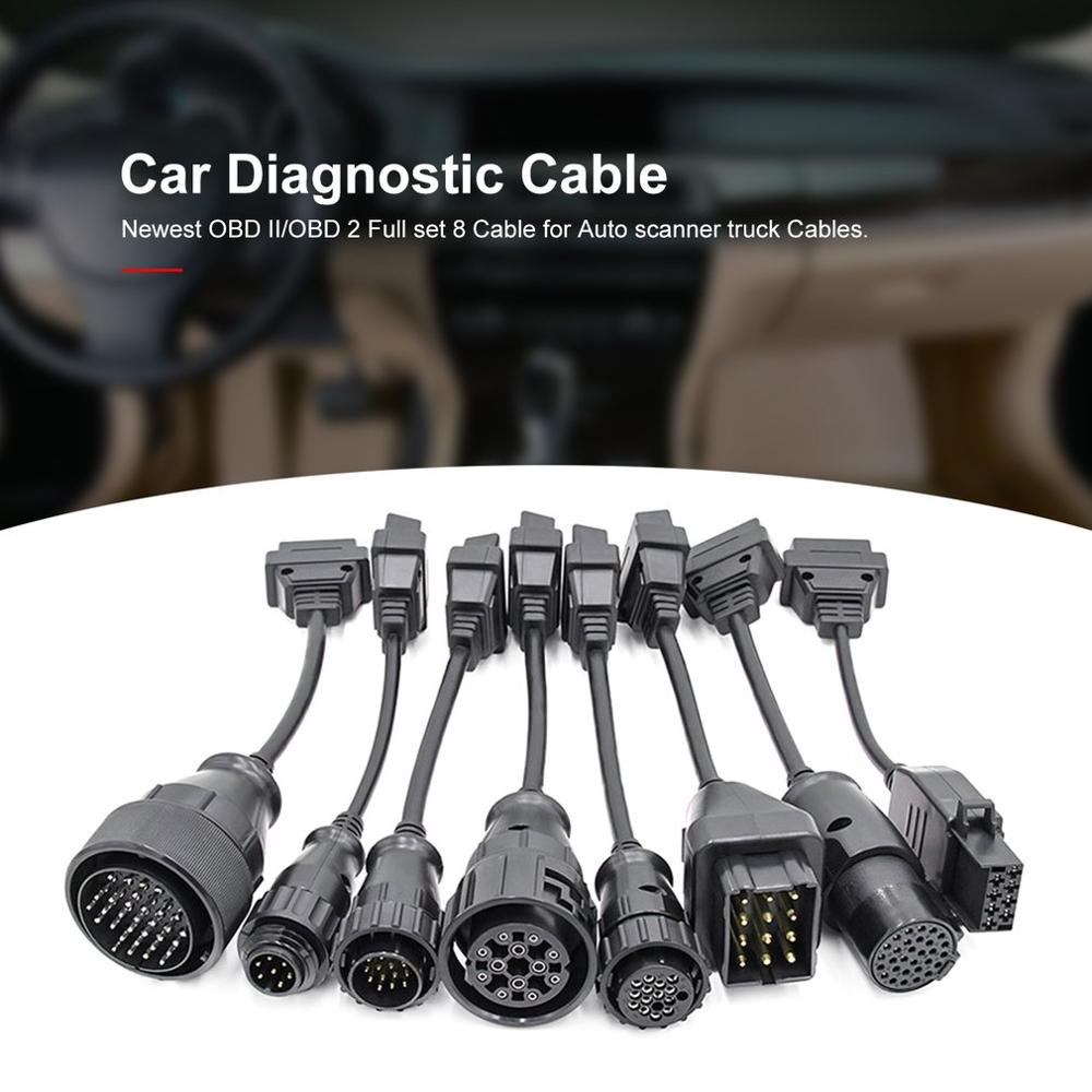 Truck Cables Pro OBD2 OBDII Car Auto Cable Trucks Diagnostic Tool Connect Cable 8 PCS Trucks Cables for CDP ds150E