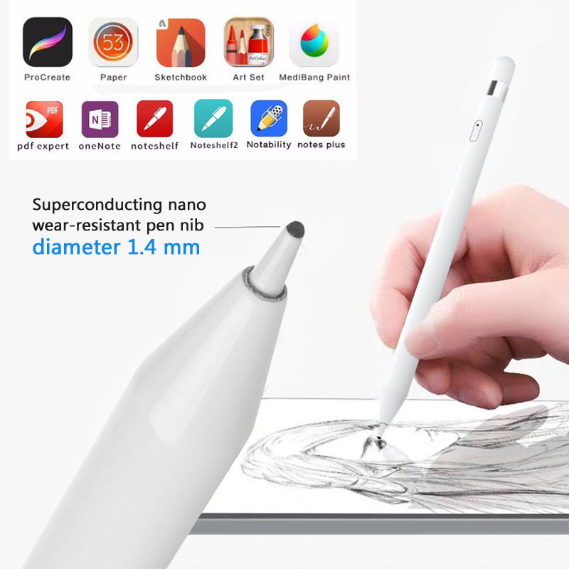 Pocket Stylus Pen Active Capacitive Touch Writing Drawing Gift For Tablets Phone