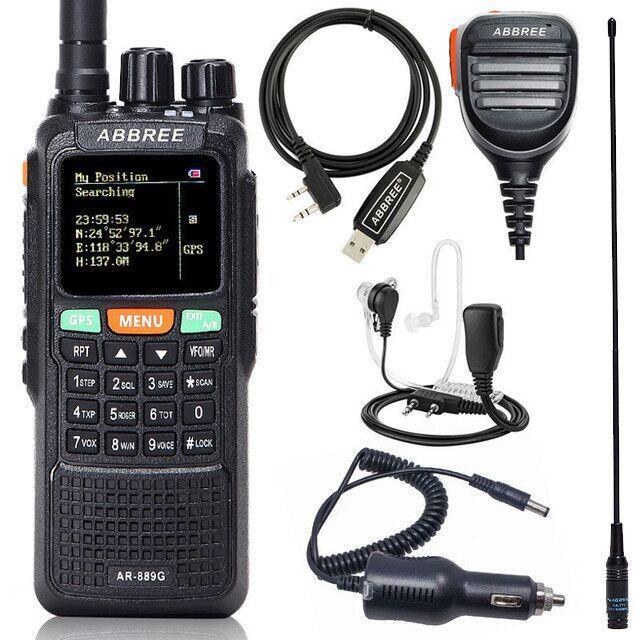 ABBREE AR-889G GPS 10 Вт мощная портативная рация, перекрестный ретранслятор, двухдиапазонный широкодиапазонный любительский двусторонний радиоко...