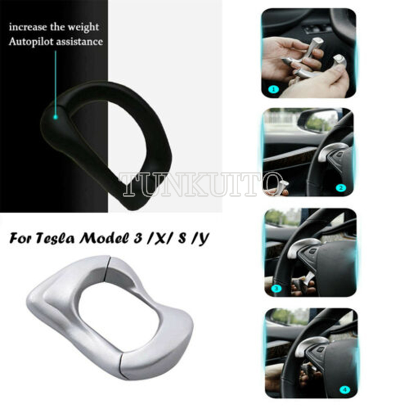 For TESLA Model 3 Y S X Counterweight Ring Autopilot Automatic  Driving AP Steering Wheel Gravity Ring 1 Piece
